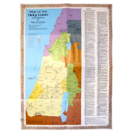 Map of the Holy Land – Set of 2