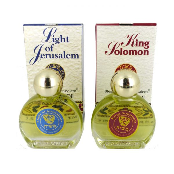 """Anointing Oil Set – """"Light of Jerusalem"""" & """"King Solomon"""""""