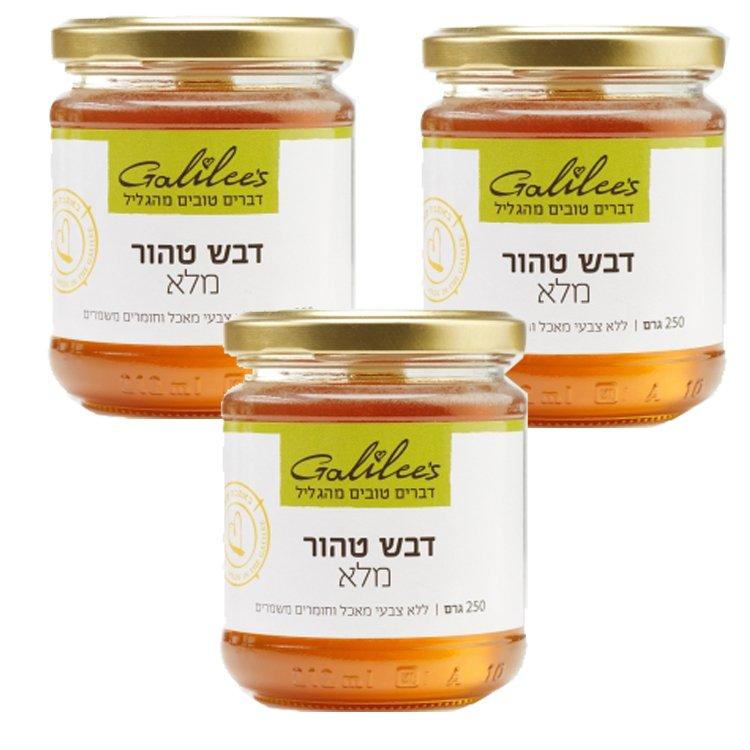 Galilee Wild Flower Honey – 3 Pack