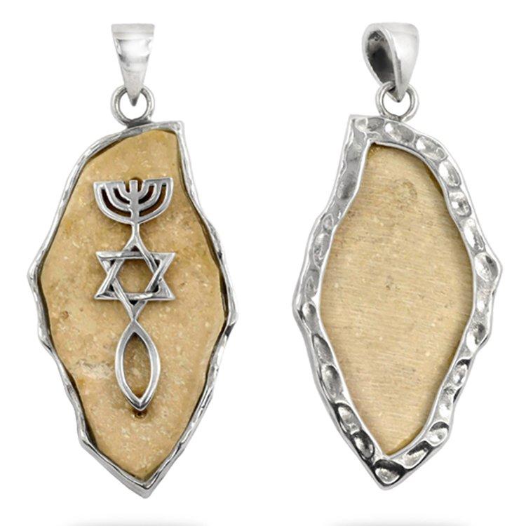 Messianic Seal on Jerusalem stone Pendant