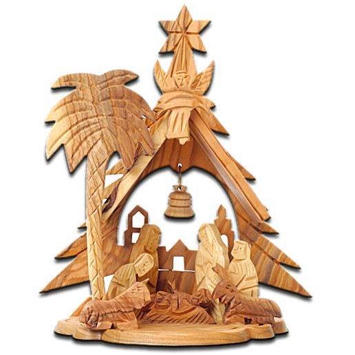 Olive Wood Mini Nativity Scene