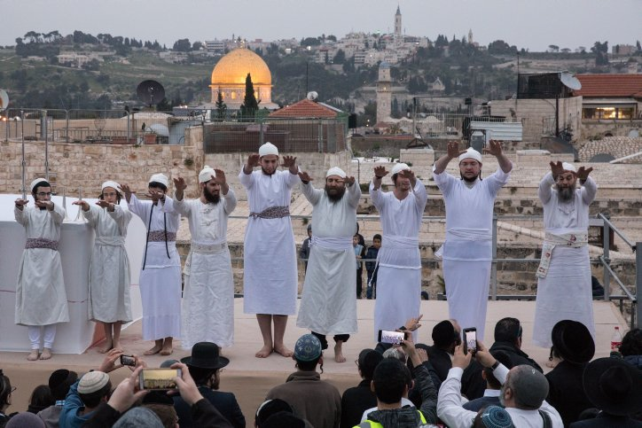 Priests Sacrifice Passover Lamb in Jerusalem