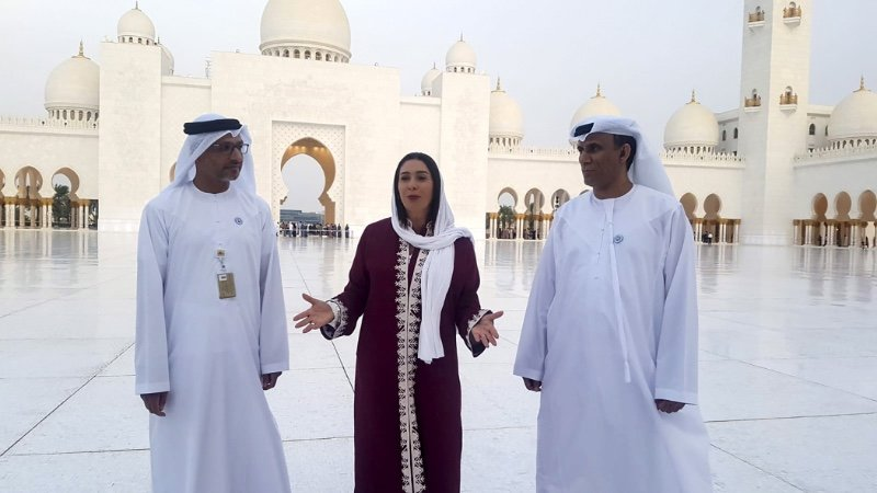 Israeli Minister Miri Regev on an official visit to Abu Dhabi in 2018