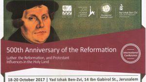 Jerusalem Commemorates 500th Anniversary of Protestant Reformation
