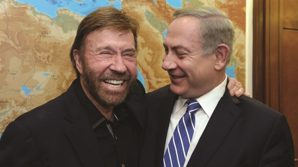 BIBI'S BODYGUARD: With Norris at his side, Netanyahu found himself in good hands