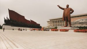 The Grand Monument in Pyongyang