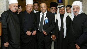 Kara (center) is the first Druze Cabinet minister