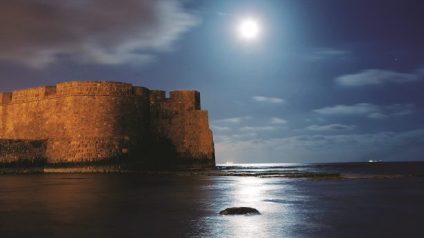 MOONLIGHT ON THE MEDITERRANEAN The historic port of Acre