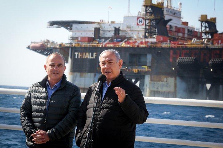 Ministeräsident Benjamin Netanjahu und Israels Energieminister Yuval Steinitz