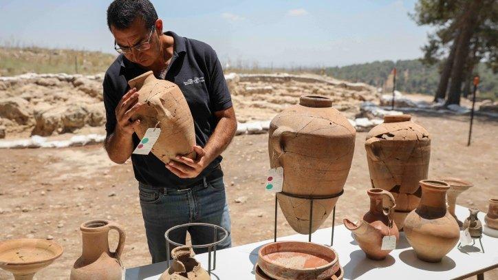 Archaeologists examine