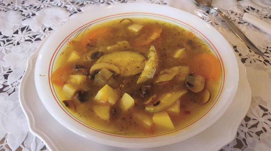 Winter Soup with Lemon Peel Strips