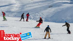 The ski season opens on Mount Hermon