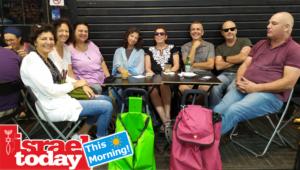 Our weekly gathering at Mahane Yehuda.