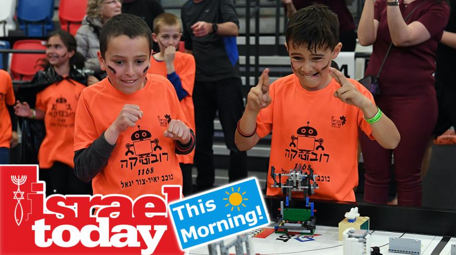 Israeli children participate in a global robotics competition