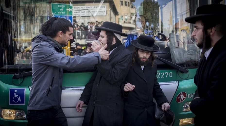 Orthodox Jews are that half of the nation that remains behind and prays.