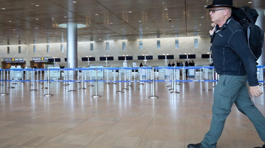 Ben Gurion Airport is empty thanks to coronavirus.