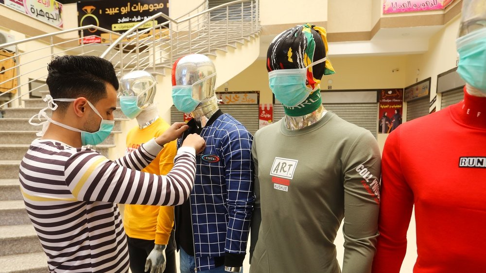 Gaza factory begins making corona masks and protective suits for Israel.