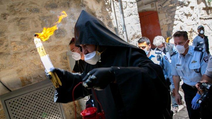 Jerusalem Holy Fire ceremony amid Coronavirus restrictions.