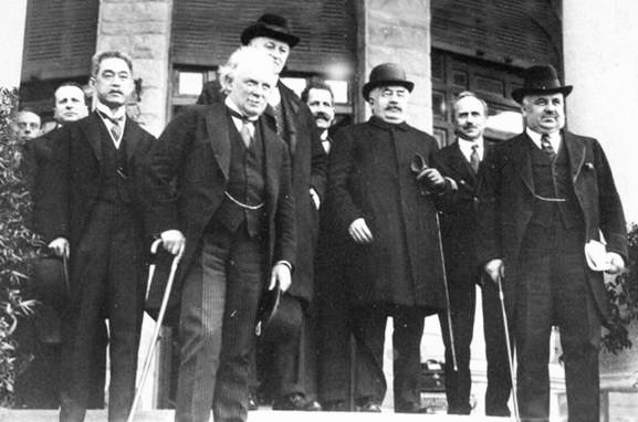 Delegates to the San Remo Conference, where the Jewish state first gained international legitimacy.