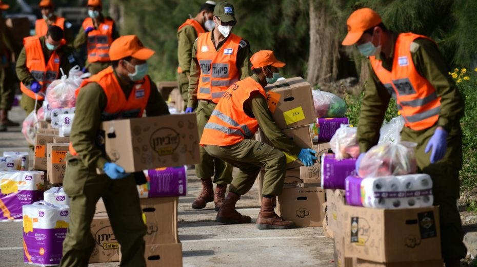 The Israeli army fights coronavirus by protecting the elderly.
