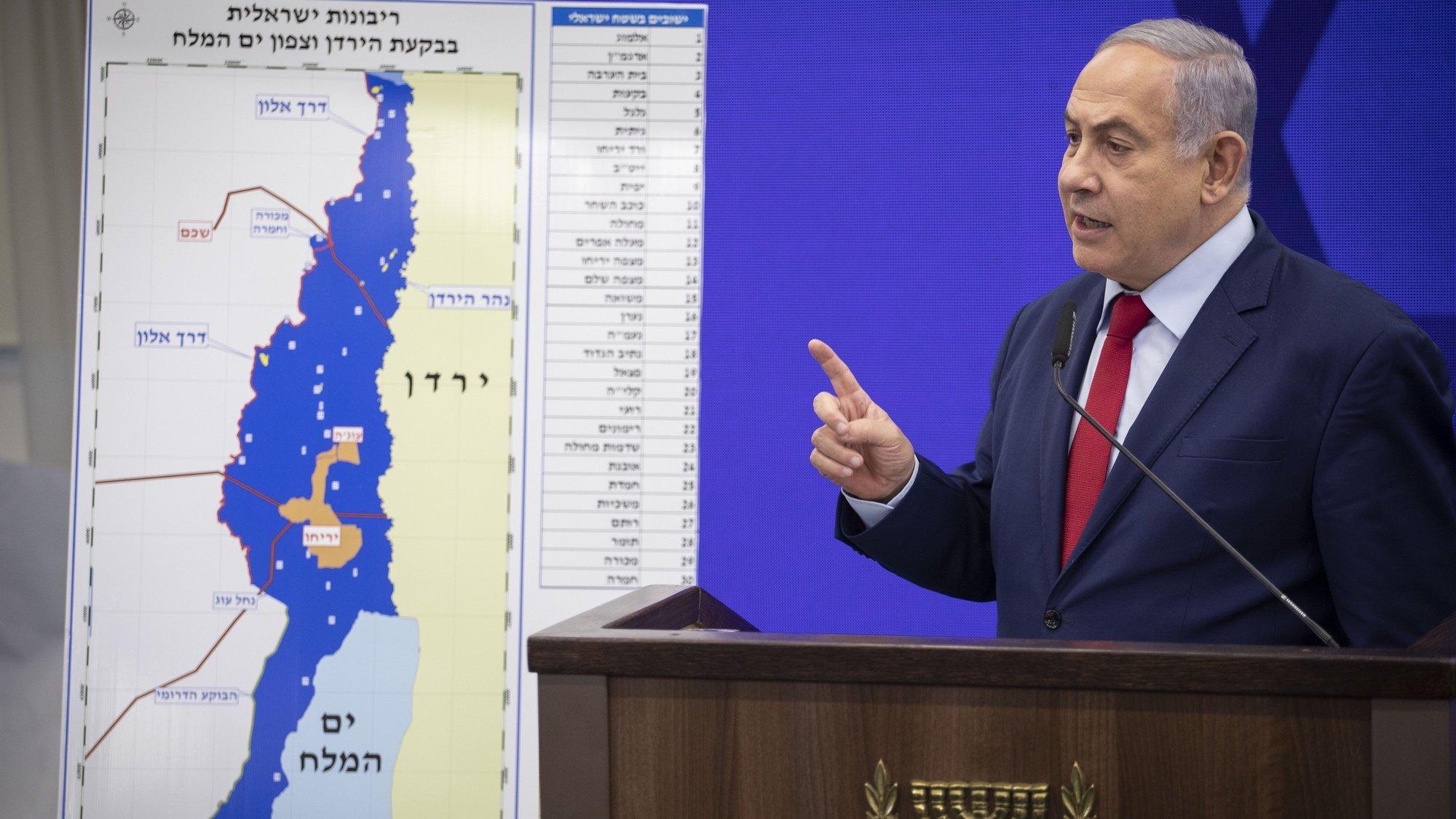 Netanyahu wants to annex the Jordan Valley.