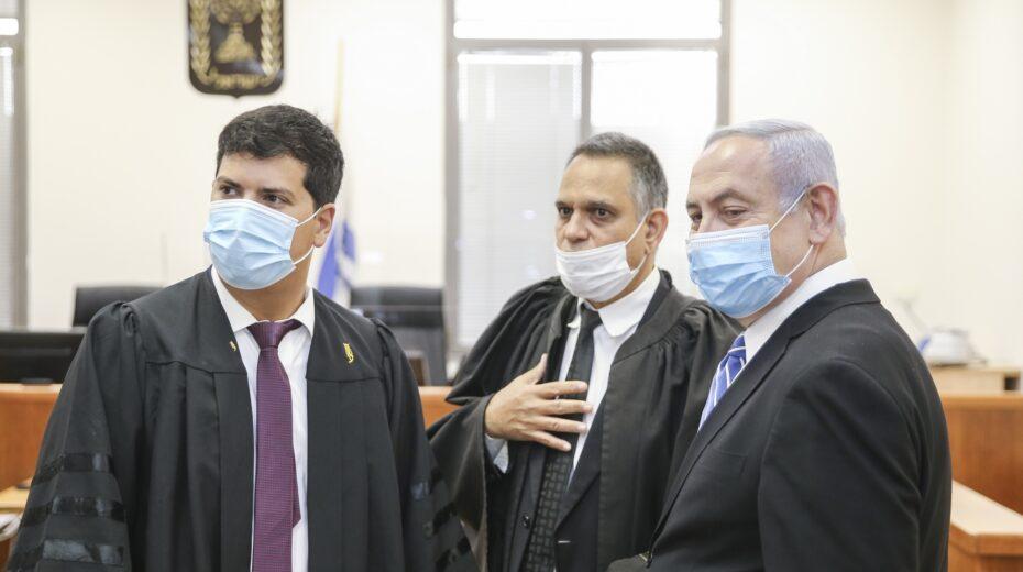 Netanyahu goes on trial in Jerusalem.