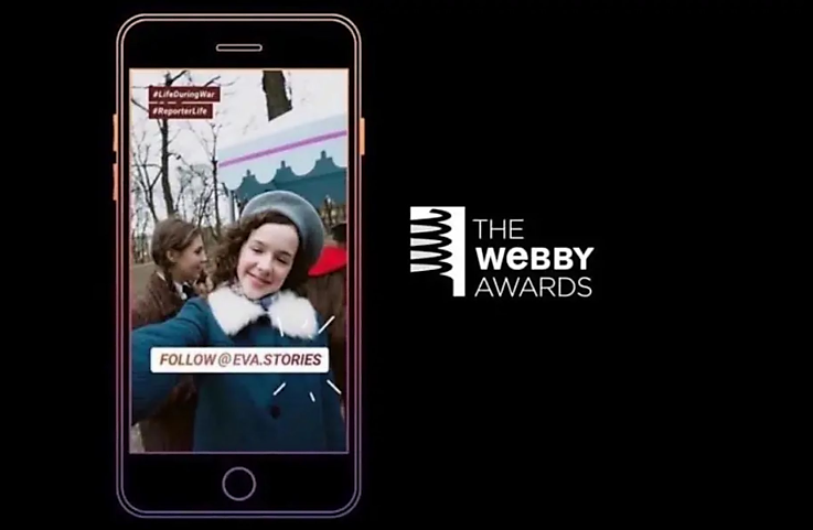 Eva.Stories wins WEBBY for best story told on the Internet.