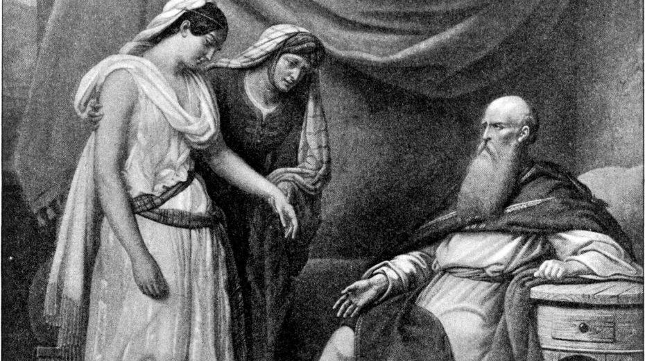 Sarah offers Hagar to Abraham.
