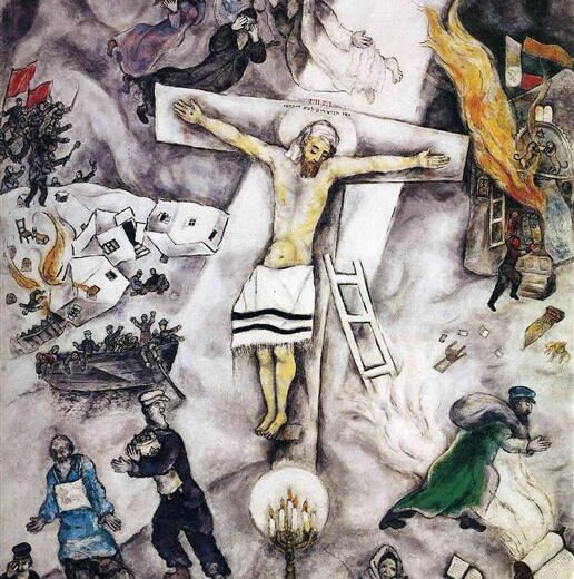 Jesus the Jew as depicted in The White Crucifixion.