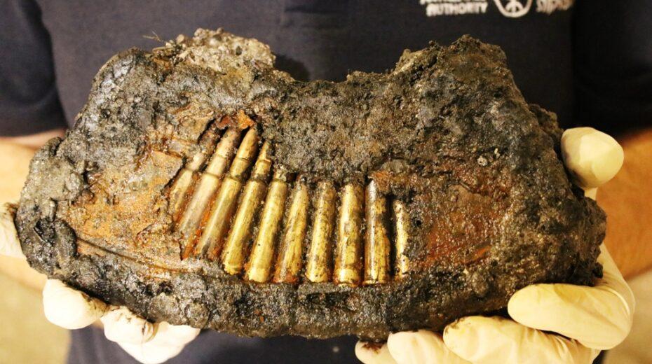 Jordanian ammunition found stashed near the Western Wall.