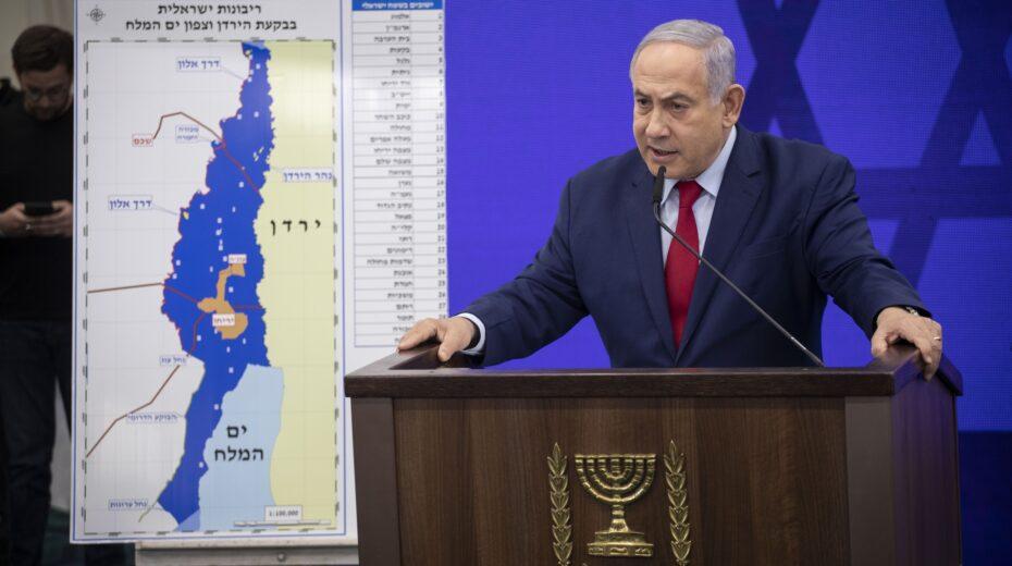 Netanyahu presents Jordan Valley Annexation plan.