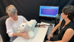 Researchers test human response to social robot interaction.