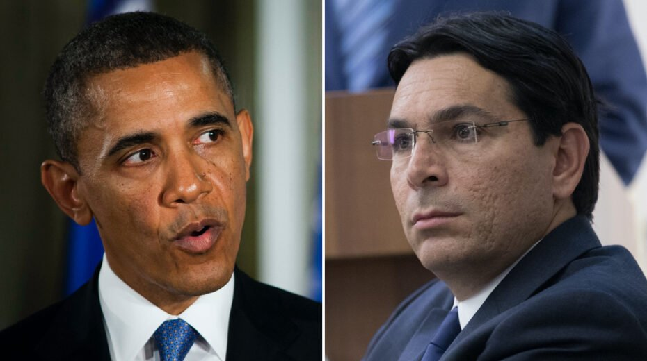 Israel ambassador Danny Danon takes swipe at Obama.