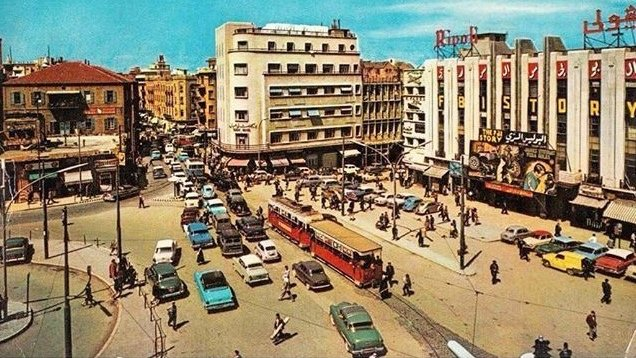 Martyrs' Square in Beirut 1960.
