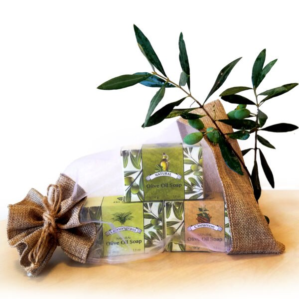 """Natural olive soap """"Ein Gedi"""" in a set of 3"""