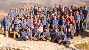 Volunteers in Israel.