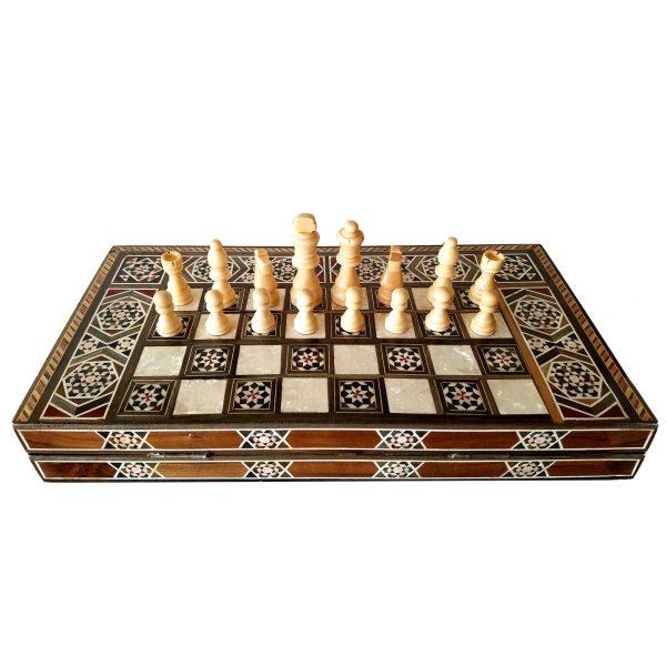 handgearbeitetes edles Holzschachspiel