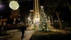 Christmas tree in Jerusalem