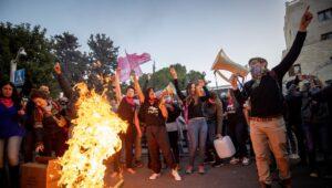 Israelis demonstrate against Prime Minister Netanyahu