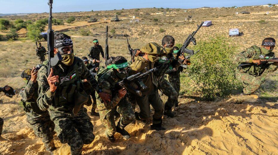 Hamas and Islamic Jihad terrorists train together in Gaza.
