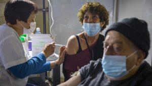 Israelis receive coronavirus vaccination.