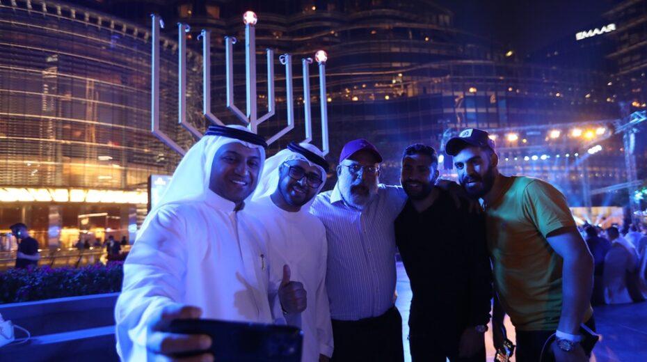 Israelis in the UAE celebrate Hanukkah with local Emiratis