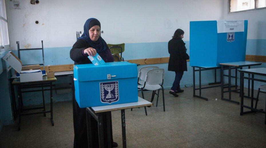 Israeli Arab voters cast their ballots