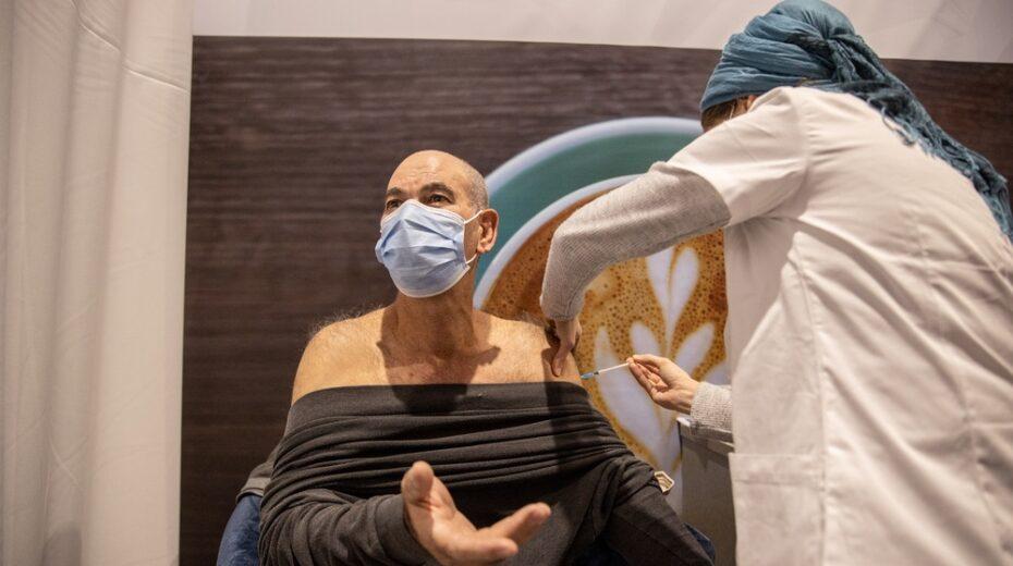 An Israeli receives the Pfizer vaccine