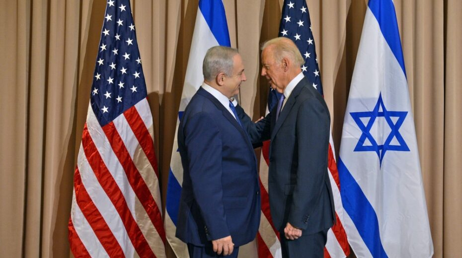 Biden and Netanyahu in 2016. They don't seem to be at odds.