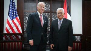 Biden and Palestinian leader Mahmoud Abbas
