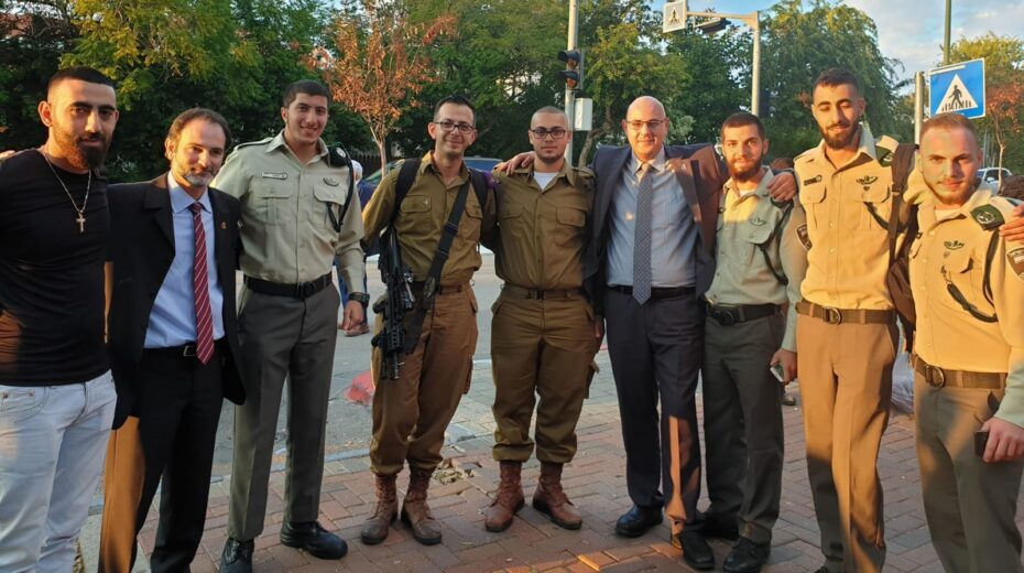 Arab Christian soldiers in Israel