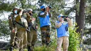 IDF and UNIFIL check the Lebanon border