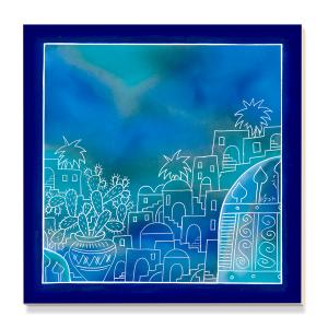 Tile with Jerusalem motif