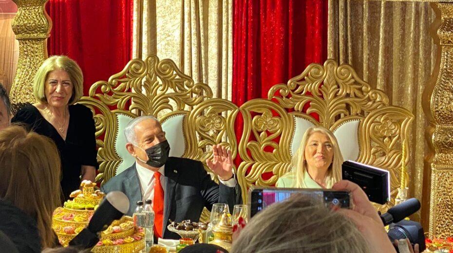 Netanyahu upon his golden throne